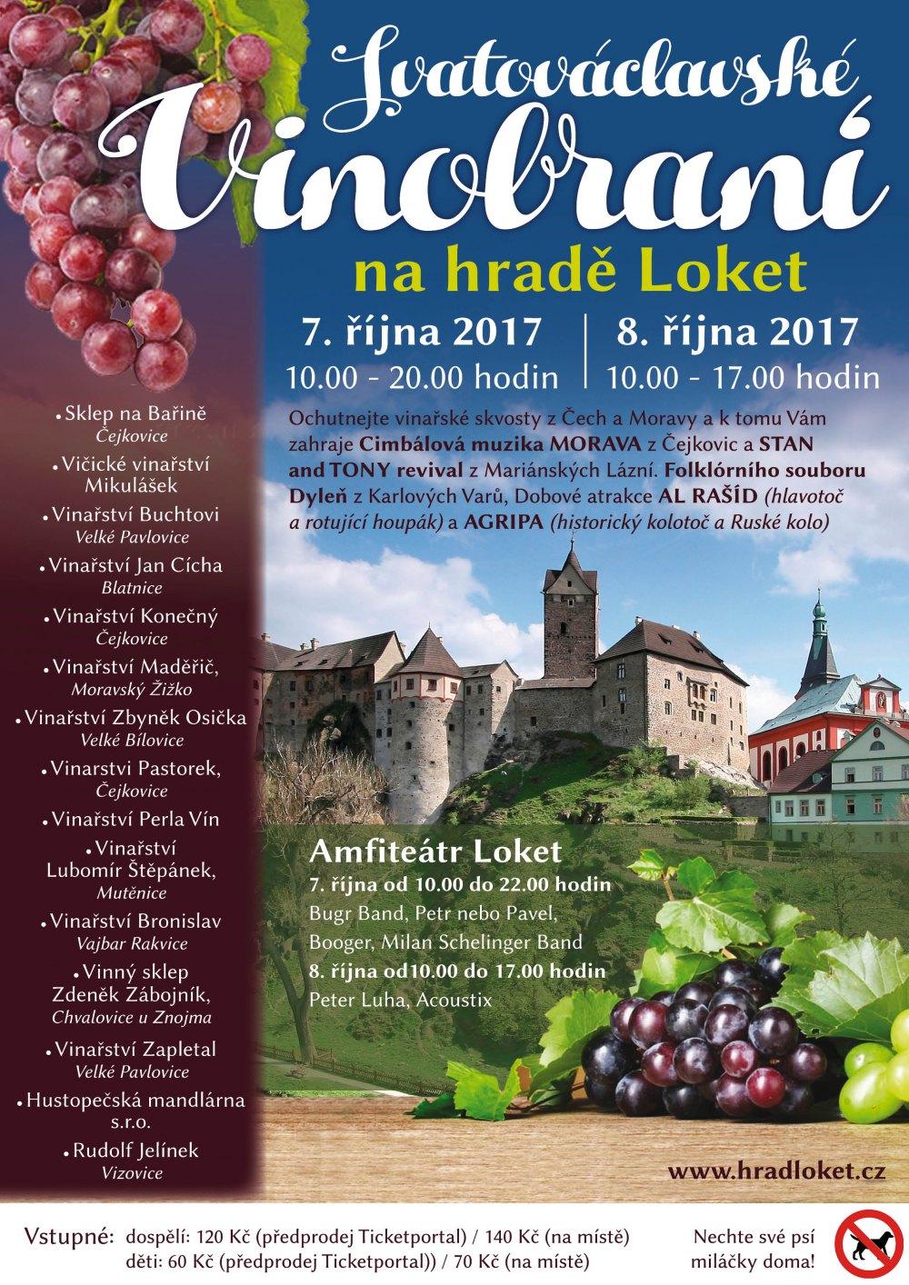 Vinobraní na hradě Loket